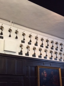 Some of the 44 bells in the servants' quarters