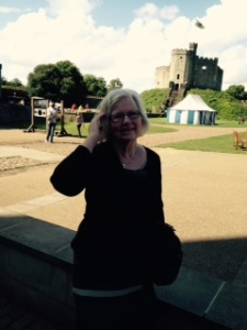 Ann at the Cardiff Castle fortified keep