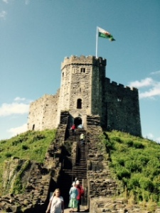 Close up of the Cardiff Castle fortified Keep