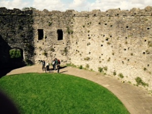 Inside view of the middle level of the Cardiff Castle fortified keep