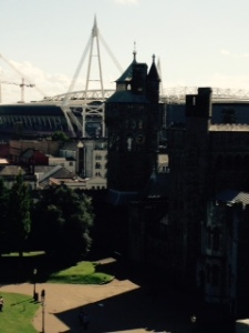 Another view of the Castle house and Millennium stadium