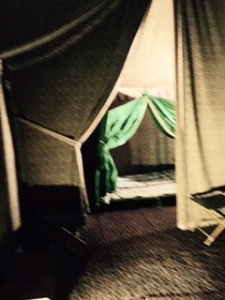 Napoleon's campaign tent and sleeping tent. Cleverly a whole room in the museum of Napoleon is set up like a Campaign tent with all his genuine equipment preserved