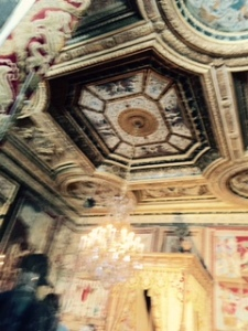 Painted and sculptured ceilings to match the best of Italian Renaissance palaces