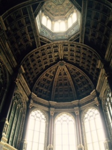 Severe chapel at Fontainebleau built under the influence of Madame Maintenon, a committed Christian and influence on the king