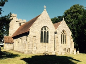 C17th? Anglican church in Frinsted in the hills of Kent near Sittingbourne