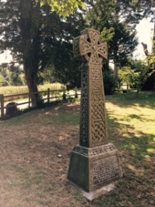 Celtic cross in the Church graveyard in Frinsted Kent