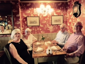Joyce and Brian, Ann and Richard celebrate a significant birthday for Joyce at the Red Lion, near Frinsted in Kent