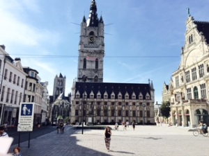 St Bavo's Square in Ghent old town
