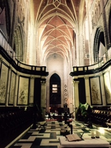 St Bavo's Cathedral in Ghent. Late Renaissance Gothic and in this photo looking quite traditional