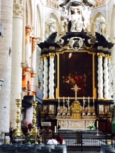 St Nicholas's church in Ghent ...the Baroque half with its C18th altar