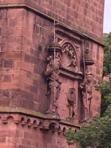 Wall detail of Heidelberg Castle