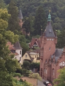 Heidelberg church and homes from the castle wall