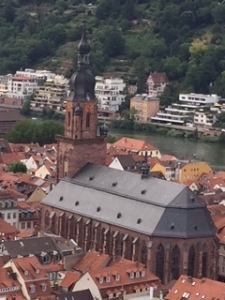 Another view of old town and churches from the castle