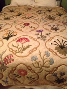 Ann's quilt made for Sarah Lang based on the Jane Morris design