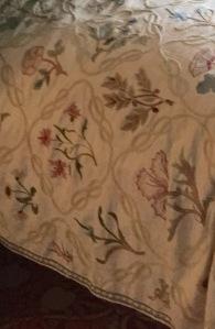 Close up of Jane Morris's quilt design