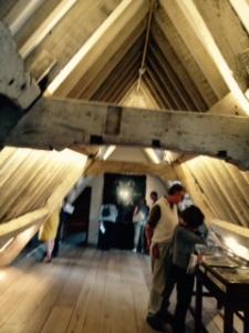Kelmscott Manor restored attic bedroom