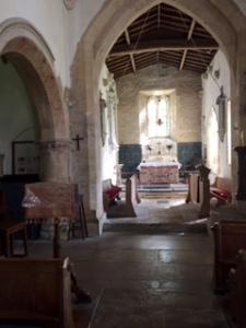 Interior of St George's church in Kelmscott Village