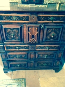 Arts and Crafts wooden cabinet in Kelmscott Manor