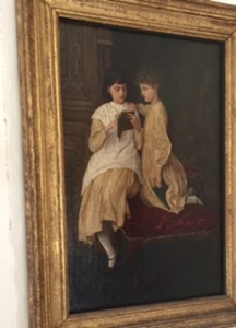 Beautiful Rossetti painting of Jenny and May Morris in Kelmscott Manor