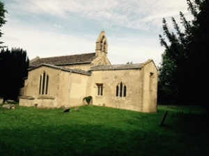 St George's Church C14th Romanesque in the Village of Kelmscott