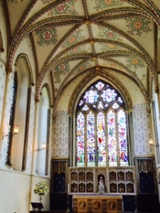 1280 Lady Chapel with unusual painted ceiling