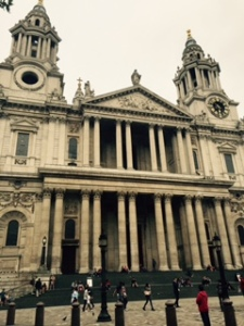 Part of the west front of St Paul's Cathedral London
