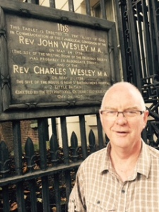 Aldersgate St in London where he are living for five days. Here John Wesley was converted and thus began the ministry and mission of one of God's most faithful and committed servants. Here also his brother Charles probably wrote some of the Christian faith's best loved hymns.
