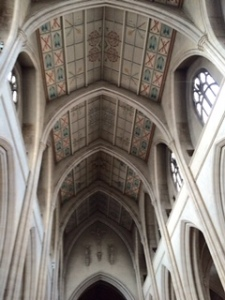 painted ceiling of St George's Catholic Cathedral in Southwark. Ancient Gothic currently undergoing major external renovation