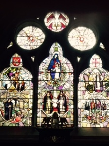 Glorious stained glass in Southwark Anglican Cathedral. Most of the glass is new as much was destroyed in WW11 bombing