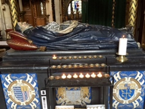Tomb of Lancelot Andrews Bishop and Biblical Scholar who was part of the Westminster team who helped to create the King James Bible