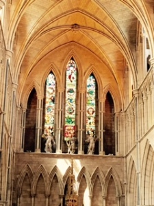 View of east wall from centre of Southwark Cathedral