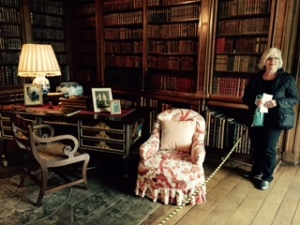 Ann in one of the seven library rooms of Longleat. The House holds over 44000 books, the largest private library in England