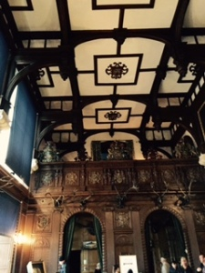 Baronial hall at Longleat, the only Elixabethan remnant in the house but an impressive room nevertheless