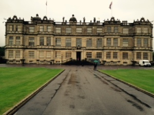 View of the front of Longleat, England's finest Elizabethan house with 1000 acres of parkland landscaped by Capability Brown