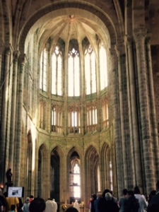 exceedingly high and beautiful Gothic chapel ..unexpected in the midst of such a heavily fortified monastery