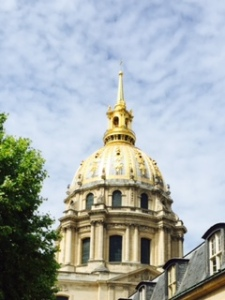 The dome of the Church of the Dome above Napoleon's Tomb in the Hospital des Invalides