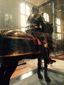 Knight in shining armour ...one of hundreds in the Army Museum at the Hotel des Invalides.