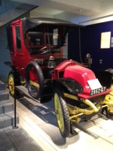 Ancient Renault Fire car, part of the impressive museum of WW1 AND WW2 in the Hotel des Invalides in Paris