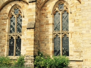 Early Gothic windows at C14th Penshurst Place in Kent