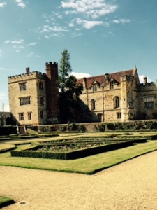 Part of the exterior of Penshurst Place taken from the formal parterre gardens.