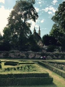 St John the Baptist Church from the formal parterre garden