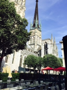Rouen Gothic cathedral right in the middle of a very modern town now, most of it having been flattened in WW11
