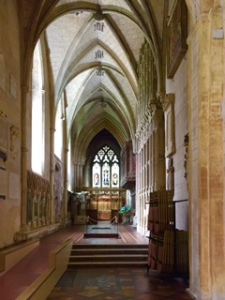 One of the few side chapels in St Albans Cathedral