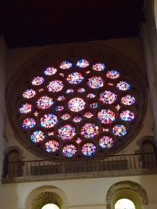 Rose Window in the Crossing of St Albans Cathedral
