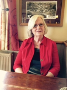 Ann looking good at the Red Lion in the hamlet of Wolverton in the Cotswolds