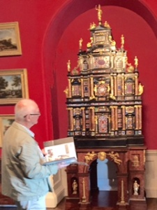 Unusual cabinet of curiosities which used to hold an organ and which once belonged to Pope Sixtus V now in Stourhead House