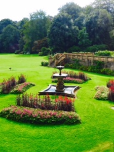 Stourhead House garden view from house