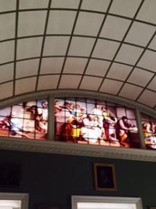 Stourhead House painted glass window based on Raphael's