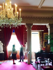 Stourhead House with Palladian columns even in the Drawing Room