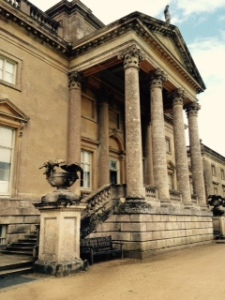 Stourhead House Palladian entry of the C18 house